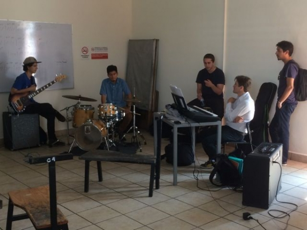 Ensemble coaching at Jalisco Jazz Festival in Guadalajara
