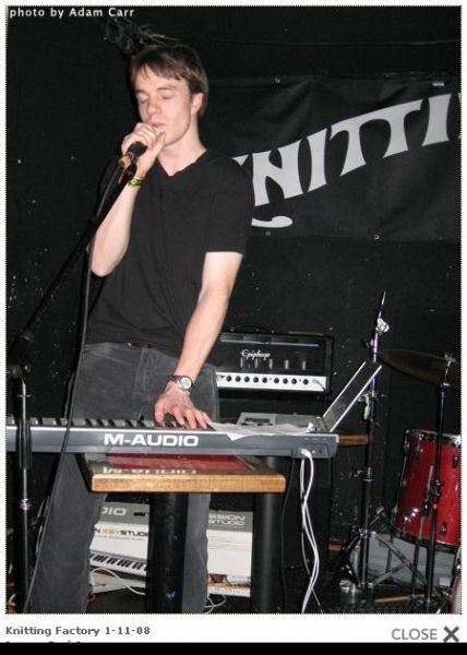 "Performing with ""Preston Demands"" at the old Knitting Factory in '08"