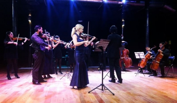 Performing a concerto with the Camerata Palafoxiana in Puebla, Mexico