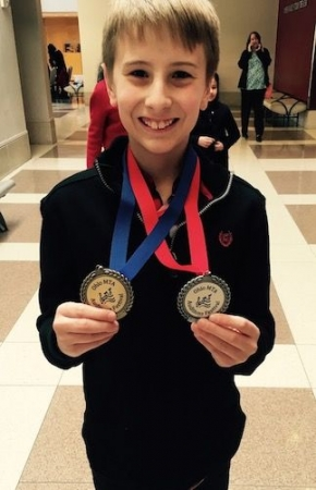 Alex gets gold and silver medals at the Auditions Festival at the University of Cincinnati!