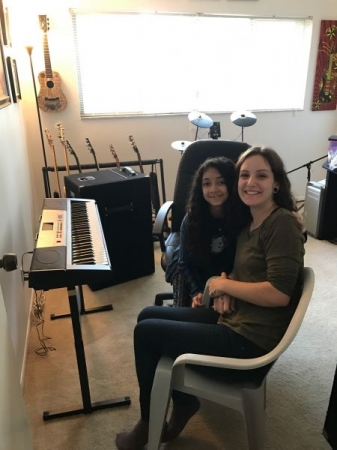 My newest student, we had an amazing first lesson in my at-home studio. Lots of laughs for sure!