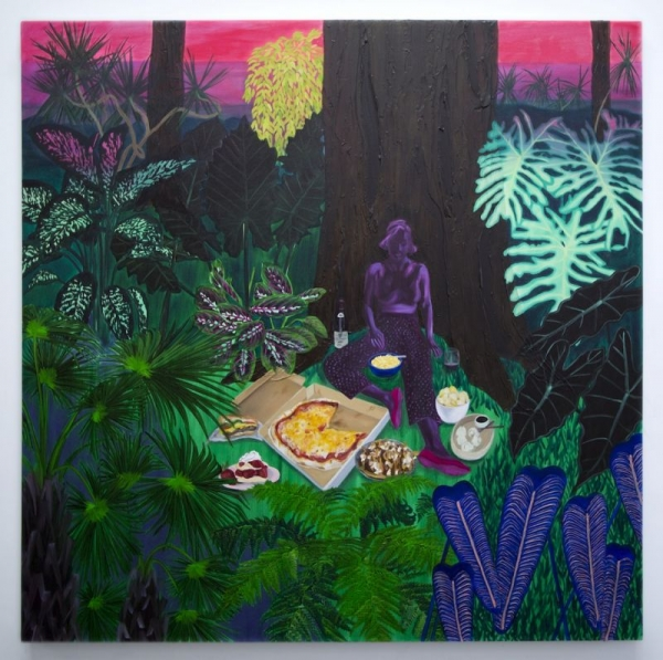 """""""Bad Habits Forest"""" recently completed oil painting"""