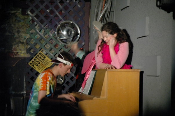 "As Sonya in ""Godspell."" Singing ""Turn back, O man"""