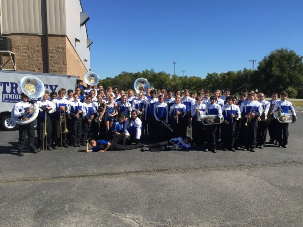 My band at a local marching competition Fall 2017 - We got a 1st division!