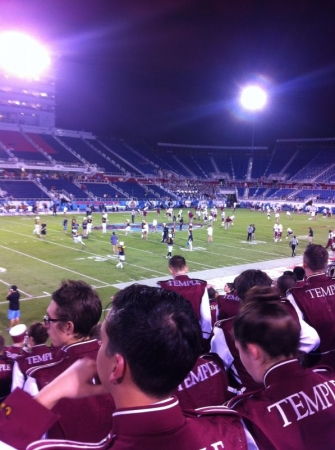View with the Temple Band at the Boca Raton Bowl
