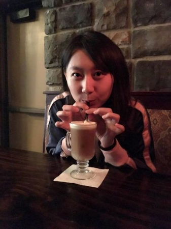 Foodie me @ East Lansing, 2017. That Irish coffee was authentic!