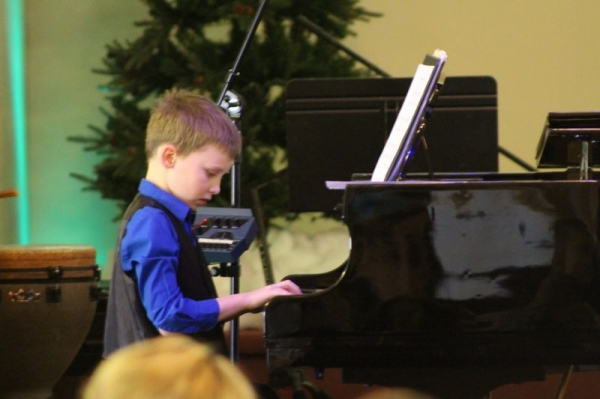 Playing at a Christmas Event. So proud of all the students hard work.