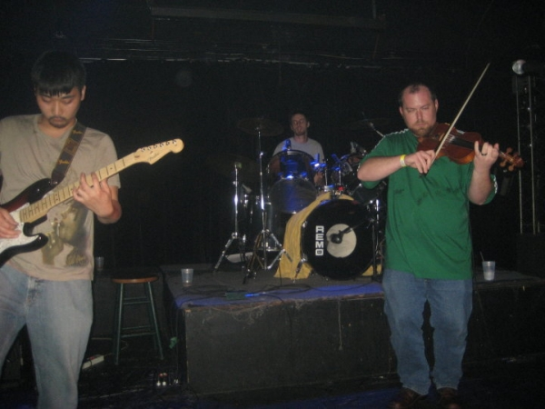 A live shot from one of my first performances with Hotel Hurry.  I remember it was SO hot that night, but so much fun too!