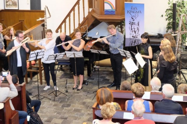 Performing Ian Clarke's Within at Grolloo Flute Sessions in the Netherlands