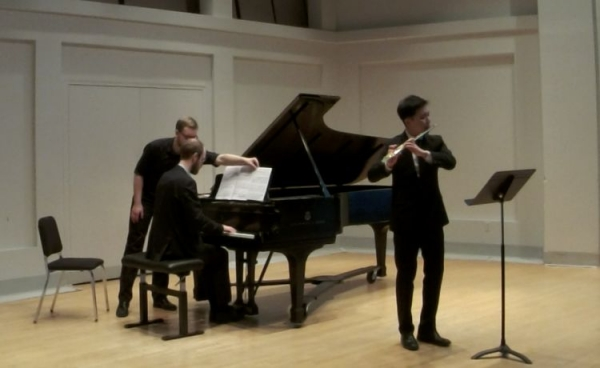 Recital in 2015 in Indiana University, Jacobs School of Music
