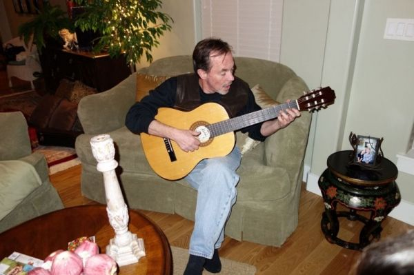 Private classical guitar performance.