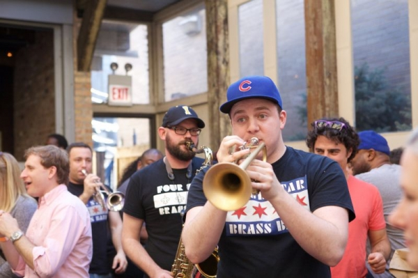 Playing with Four Star Brass Band