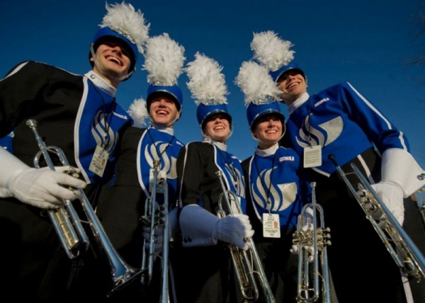 With the Georgia State University Marching Band at the 2013 Presidential Inaugural Parade in Washington D.C.