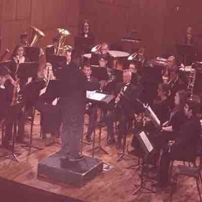 Conducting Texas Wesleyan University Symphonic Band