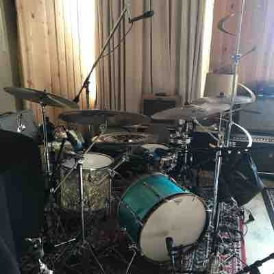 Setup for a studio recording with Kate Vargas for her upcoming album. Recorded in Brooklyn.