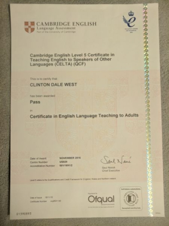 CELTA certification