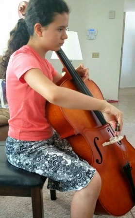 A dedicated cello student