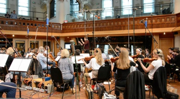 Conducting at AIR Studios in London