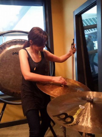 Recording some fun cymbal sounds!
