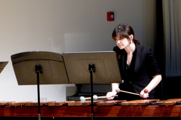 Playing Marimba