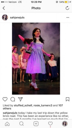 Me as Dorothy in Smithtown PAC's Wizard of Oz