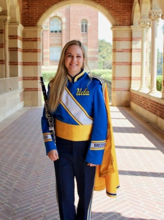Me in my uniform before a football game!