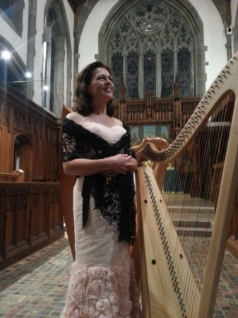 Zoe Vandermeer, Soprano and Welsh Triple Harp, Connecticut 2015.