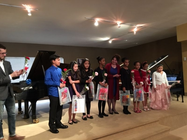 Annual Piano Recital at Steinway Hall, Fort Worth. January, 2017