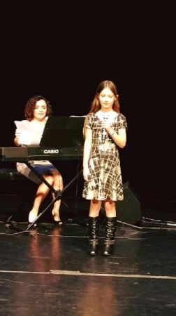 Accompanying one of my students at the concert for parents and friends.