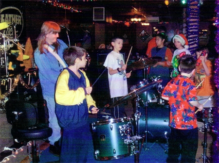 Jamming with my students at a concert