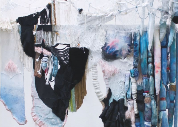 Painting textile installation, 2017