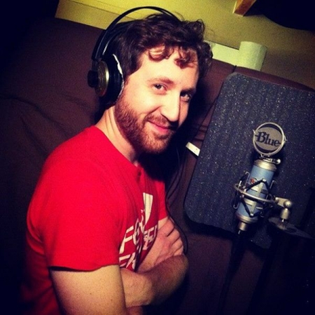 "Recording vocals for my 2013 album ""The Former & The Latter"""