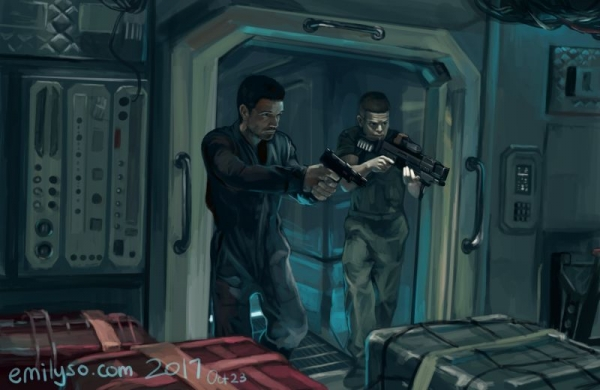 """Digital Painting from a reference from the show """"The Expanse"""""""