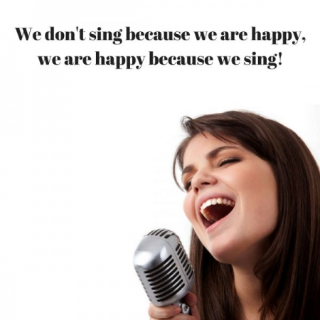 Don't worry, sing and be happy :)