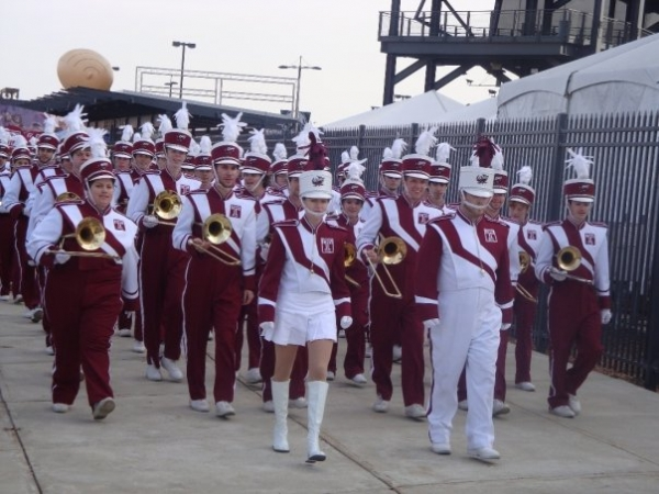 Here I am leading the Temple University Marching Band, where I served as Drum Major for three years.