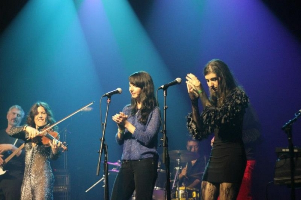 On the backup vocals at Webster Hall NYC at the Tinderbox Music Festival.