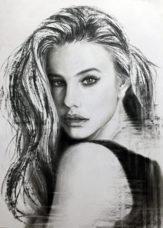 charcoal portrait drawing