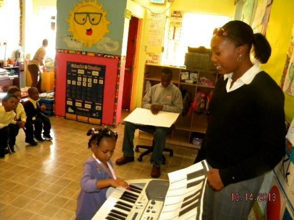 Snap shot of our Intro to Keyboard for Kids class.