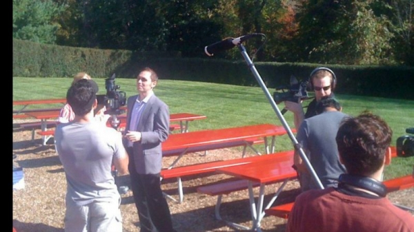 """On the set of the indie film """"Brother"""""""