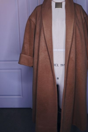 A camel-hair coat I made using a vintage Vogue pattern.