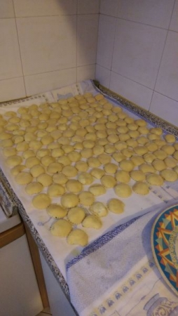Ravioli homemade filled with ricotta and parsley. One of my grandmother's specialties!