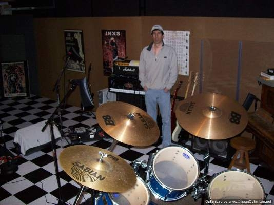 That's me in one of my favorite places. My recording studio.. :)