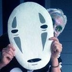 A great admirer of Hayao Miyzaki, I couldn't resist getting this 'No Face' mask to hide behind!  :)