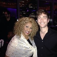 With singer Darlene Love (Mandarin Hotel- 2015)