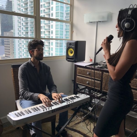 Vocal coaching in-house at Brickell Miami 2018