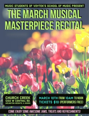 Come check out the March Recital, or sign up for lessons now and rock the jams at a future recital!