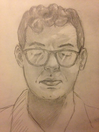 Portrait of Gabriel, graphite on paper.