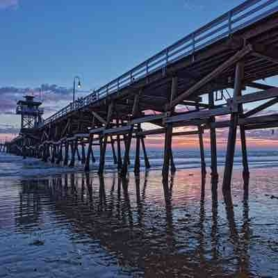 The San Clemente Pier at Sunset