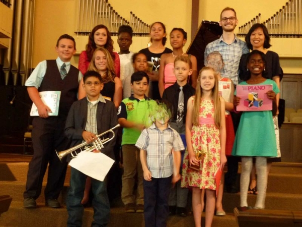 recital picture at the First United Methodist Church