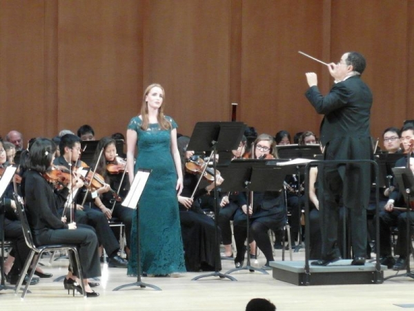 Soprano soloist with the Duke University Orchestra
